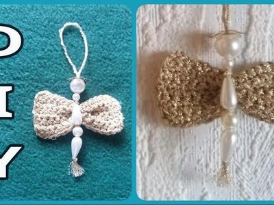 Perlen - Engel mit gehäkelten Flügeln • DIY  * Julebuergerfee