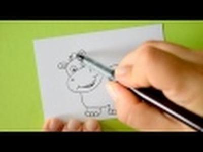 Wie male ich einen Hippo (Nilpferd.Flusspferd)