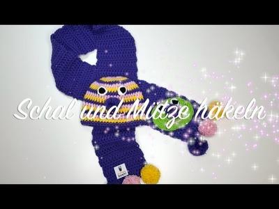 Schal und Mütze häkeln - Myboshi Isehara Kindermütze und Schal Häkelanleitung - Häkelmädel