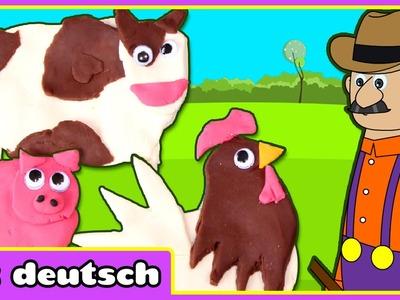 Wie Man Knete Bauernhof Tiere Aus Alte MacDonalds Bauernhof machen | Knete | Play Doh Videos