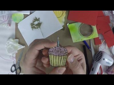Cupcake Schüttelkarte - watch me craft