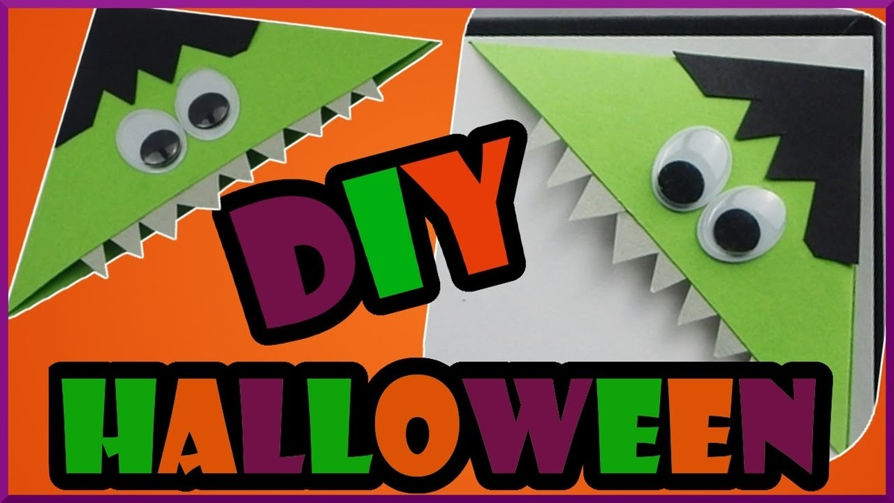 diy halloween back to school b ckerecke lesezeichen monster bookmark monster. Black Bedroom Furniture Sets. Home Design Ideas