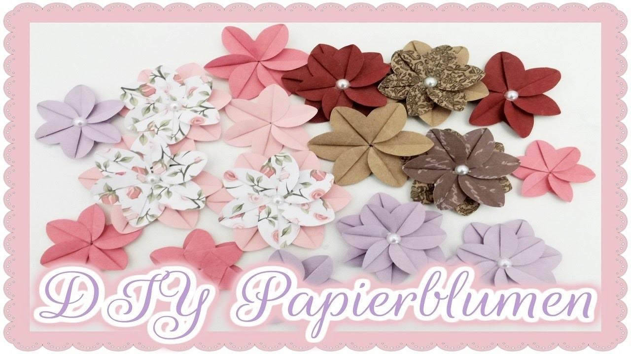 DIY Papierblumen ||  Craft update #12  & Tutorial  || Bastel-Fee