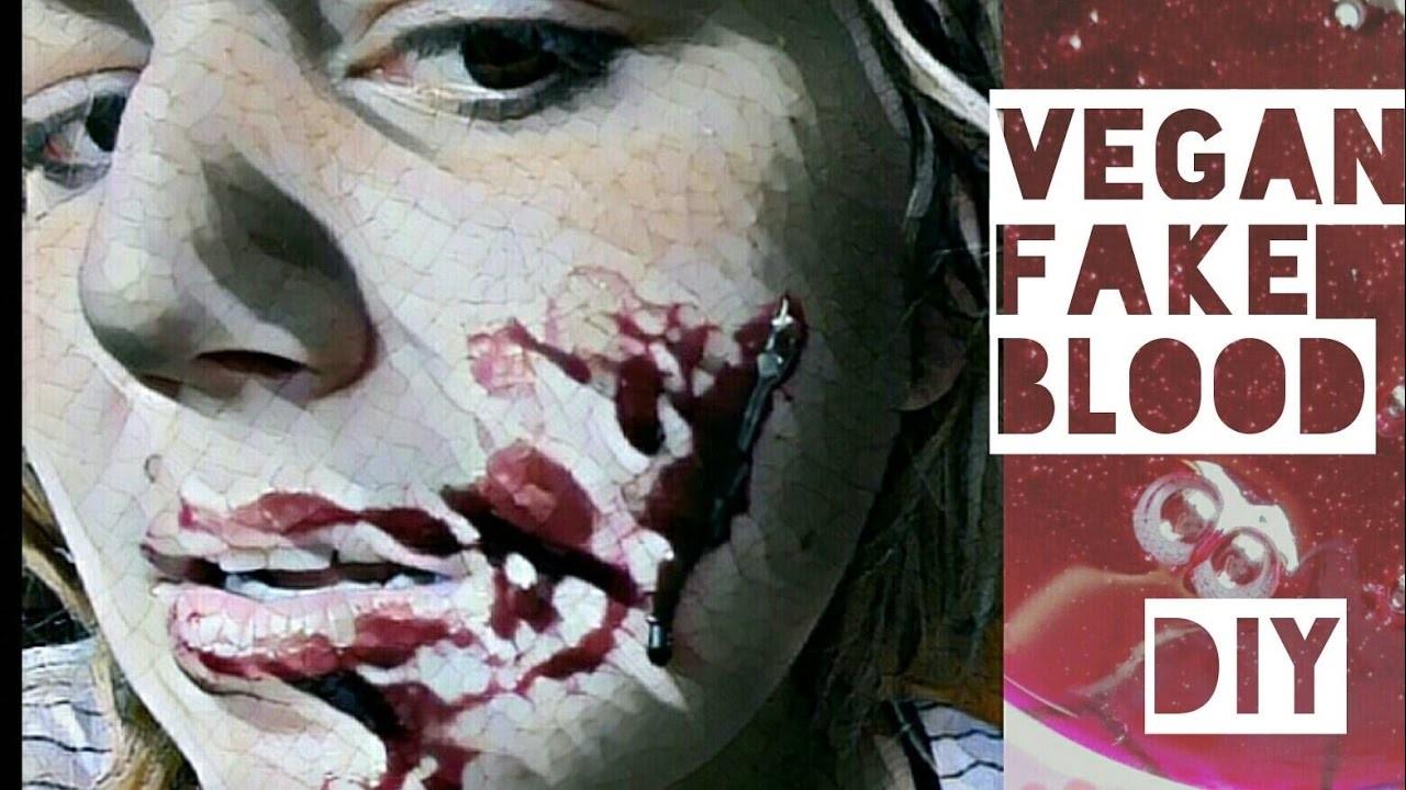 halloween how to vegan fake blood kunstblut diy. Black Bedroom Furniture Sets. Home Design Ideas