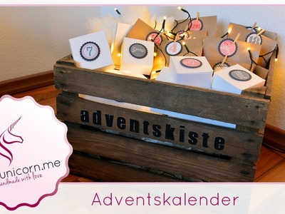 Adventskalender basteln | Weihnachten | DIY Bastelideen | Anleitung | PinkUnicorn.me
