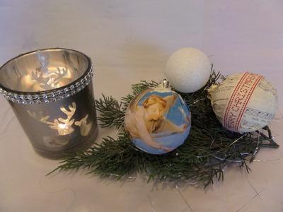 DIY by kekaplauderei 2 Bastel Tipps Christbaumkugel ,Weihnachtskugeln basteln
