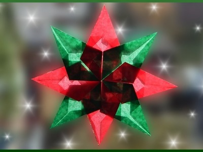 DIY | Waldorf Fensterstern basteln | Weihnachtsstern falten | paper christmas window star