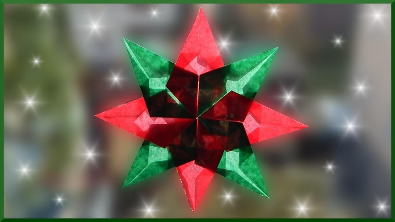 DIY   Waldorf Fensterstern basteln   Weihnachtsstern falten   paper christmas window star