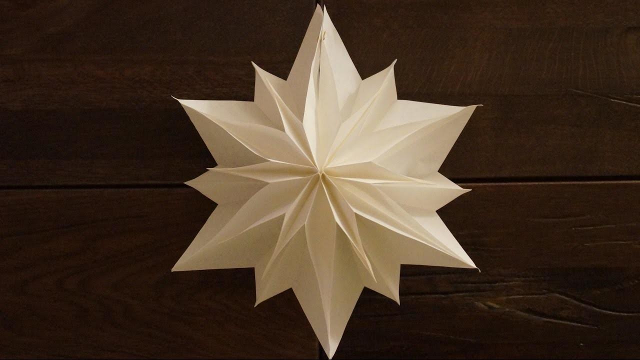 Einfache Sterne Zu Weihnachten Basteln. Paper Stars