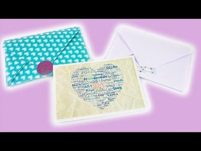 Umschlag selber machen | DIY Idee für Geschenke, Postkarten & Gutscheine | Überraschung & Deko