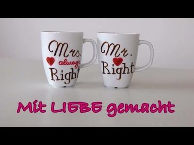 Mit LIEBE gemacht - Tasse bemalen - DIY