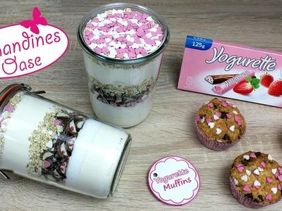 Yogurette-Muffins Backmischung im Glas (mit Etikett) | Muttertag-Muffins  | DIY Geschenk
