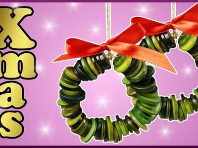 DIY | Kranz aus  Knöpfen basteln | Weihnachten Dekoration | Christmas decoration | buttons wreath