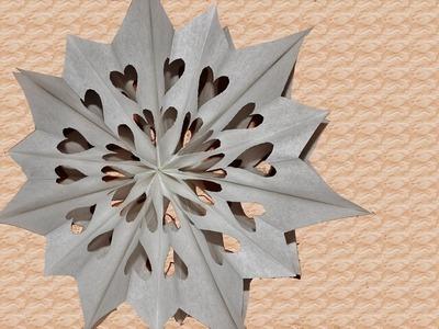 DIY Weihnachtsdeko - Weihnachtssterne aus Papier-Butterbrottüten basteln!