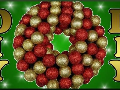 DIY xmas | Weihnachten Türkranz aus Kugeln basteln | Christmas wreath with christmas ball ornaments