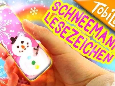 Schneemann Lesezeichen basteln | Adventskalender basteln 8 | Kinderkanal |Kinder DIY - Tobilot