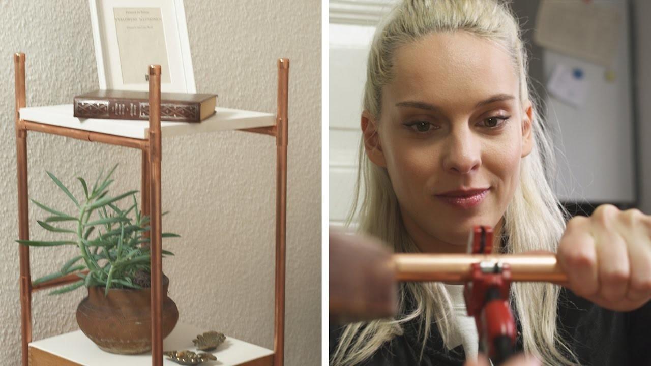 Tisch aus Kupferrohren    DIY    Jelena