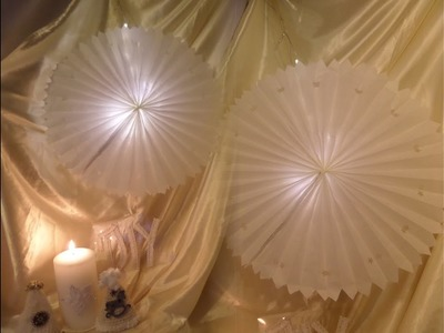 DIY by kekaplauderei: LED STERN; Wand-Deko SELBER BASTELN, aus Butterbrotpapier