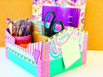 Große Schreibtisch Aufbewahrung selber machen | ENDLICH Ordnung | Back to school | Ferien Projekt