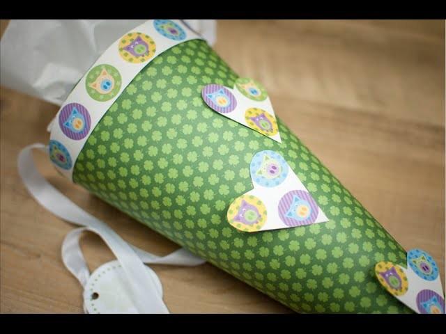 Schultüte selber machen DIY | schön-einpacken