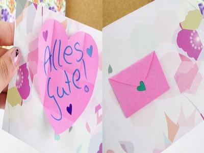 Süße Geburtstags Karte mit Umschlag selber machen | Super einfach & total schön | Überraschung