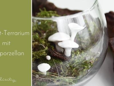 DIY Herbst-Deko mit Kaltporzellan-Pilzen