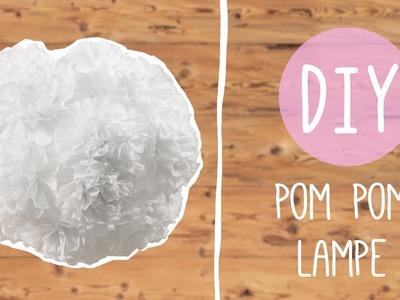 DIY Pom Pom Lampe