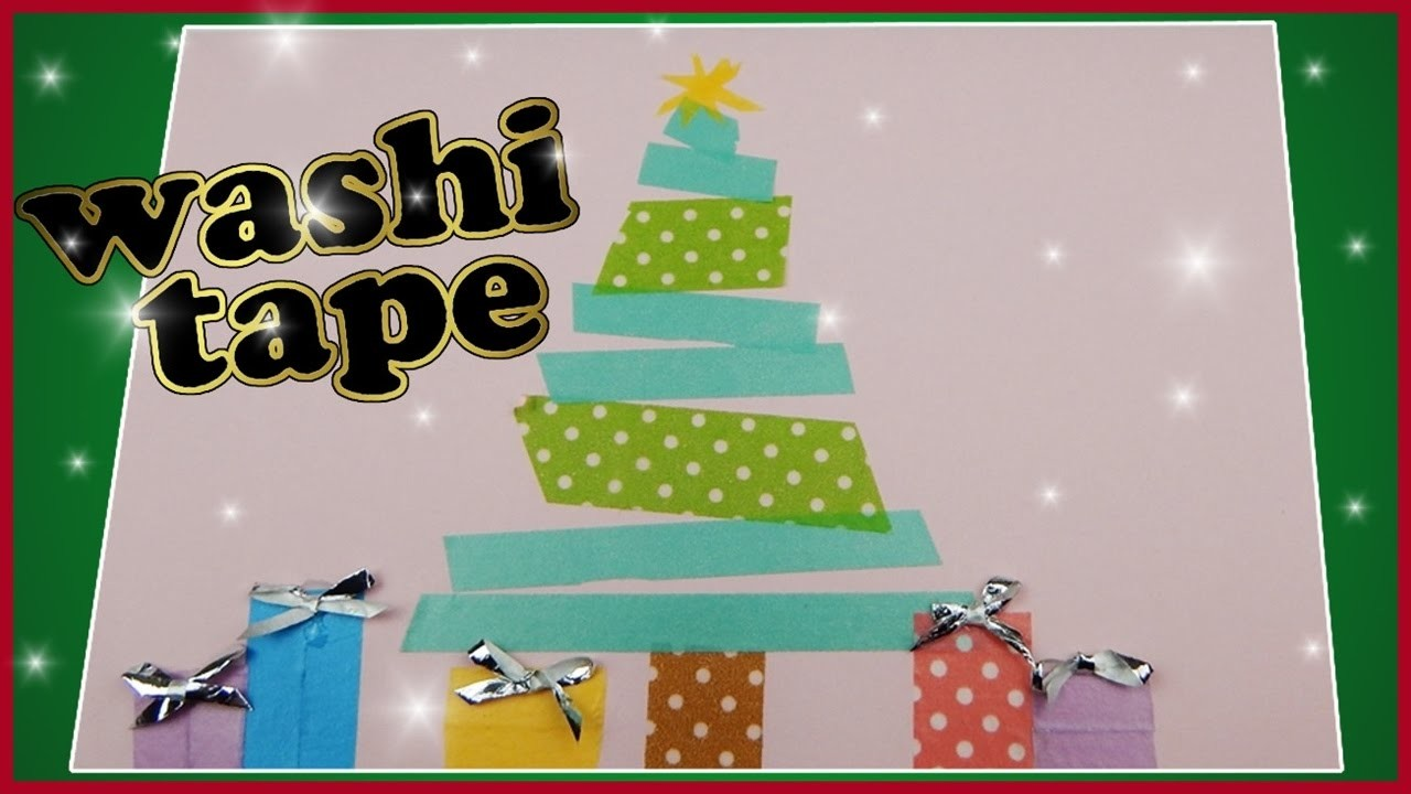 DIY washi tape xmas | Weihnachtskarte mit Weihnachtsbaum basteln | greeting card with christmas tree