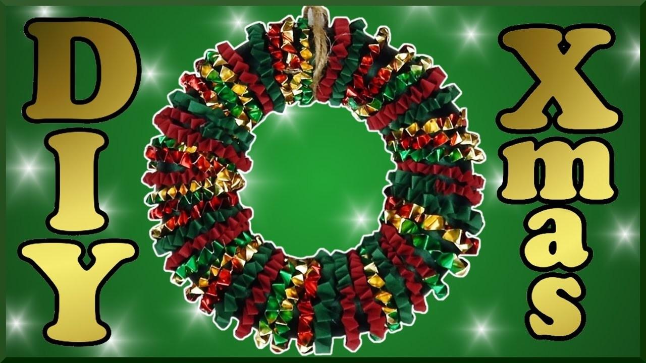 DIY xmas | Papier Adventskranz Türkranz selber basteln | Christmas paper door wreath