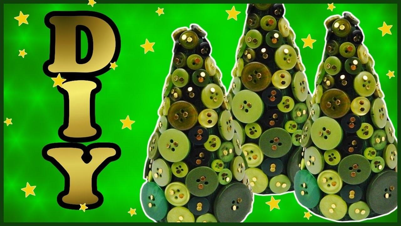 DIY xmas | Weihnachtsbäume mit Knöpfen basteln | Christmas trees with buttons | decoration