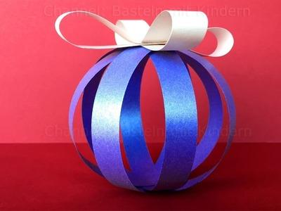 Basteln für Weihnachten: Christbaumschmuck - DIY Weihnachtsdeko: Christbaumkugeln. Weihnachtsbasteln