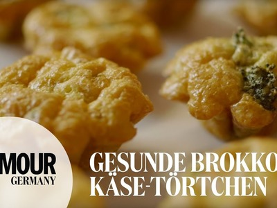 DIY gesunde Brokkoli-Käse-Törtchen I healthy Partysnack. Fingerfood I Treat Yourself Folge #10