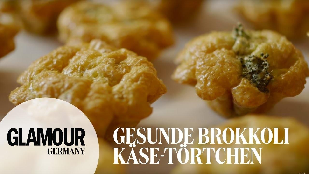 DIY gesunde Brokkoli-Käse-Törtchen I healthy Partysnack. Fingerfood I Treat Yourself Folge #10