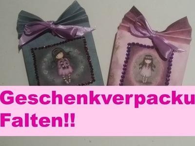 DIY Gift Bag selber falten Geschenkverpackung falten