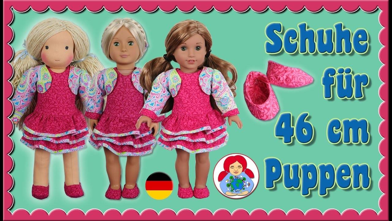 DIY   Schuhe für 46 cm Puppen (Amelie, American Girl, OurGeneration) • Sami Doll Tutorials