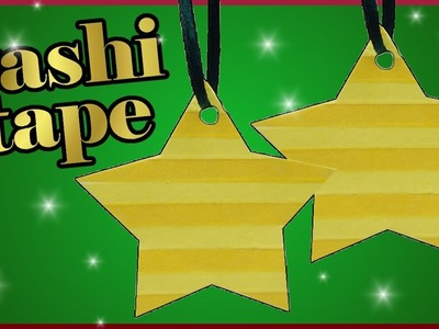 DIY washi tape challenge xmas | Christbaumschmuck | Stern basteln | Christmas tree star ornament