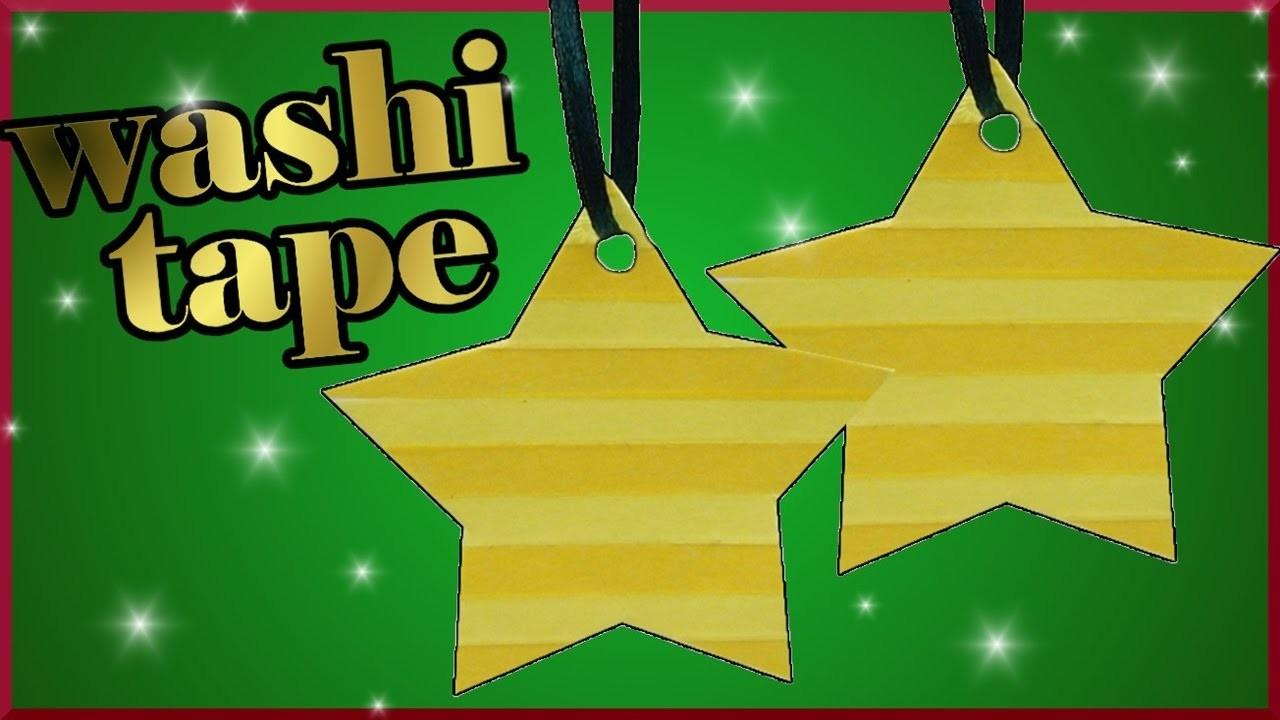 DIY washi tape challenge xmas | Christbaumschmuck | Stern basteln | Christmas tree star ornament