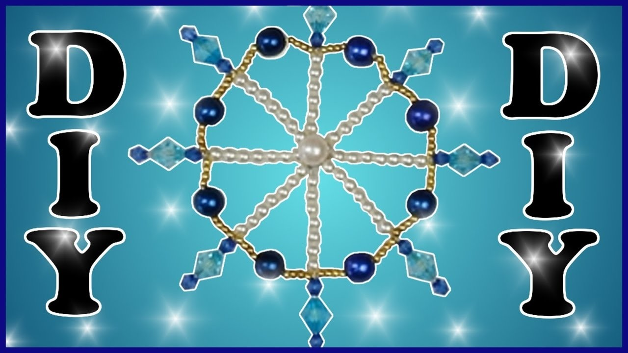 DIY | Weihnachten Baumschmuck Perlen Drahtsterne basteln | Beaded Wire star christmas tree ornament