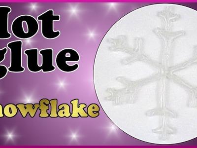 DIY xmas | Weihnachten | Schneeflocken aus Heißkleber basteln | Christmas snowflakes | Hot glue