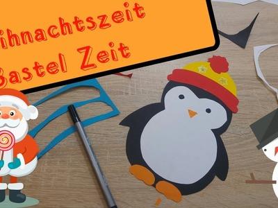 Süße Weihnachtsdeko fürs Kinderzimmer Fenster DIY Pinguinie #19