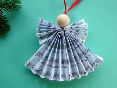 Weihnachtsengel basteln - DIY Weihnachtsdeko - Weihnachtsbasteln - Engel falten Weihnachten: 2016