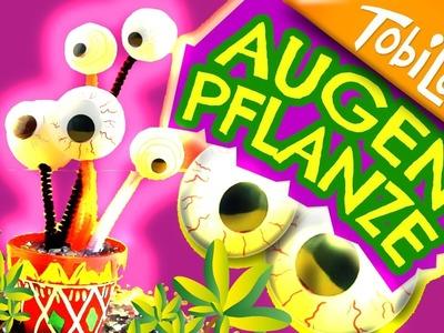 Augenpflanze Halloween DIY Halloween deko Halloween basteln Kindervideos Kinder basteln Tobilotta 60