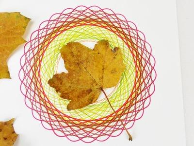 Buntes HERBST DIY Deko MANDALA zeichnen in Laub Farben | mit Spiral Designer Spirograph malen