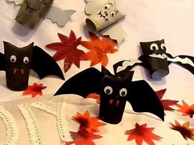 DIY by kekaplauderei : Last Minute BASTELIDEE Monster + Fledermäuse Upsycling