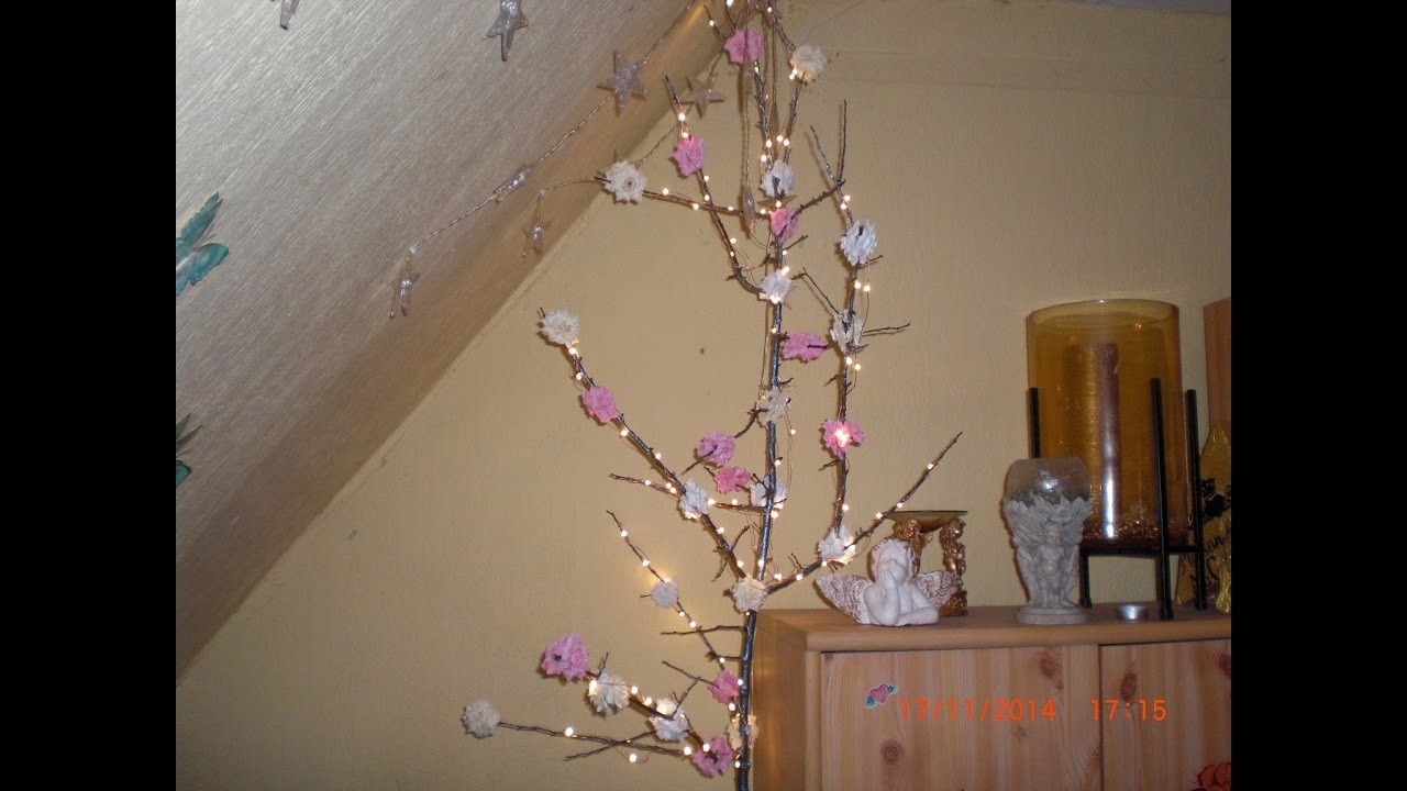 DIY - Fairy Lights Rosenbäumchen. Lichterbaum selbstgemacht