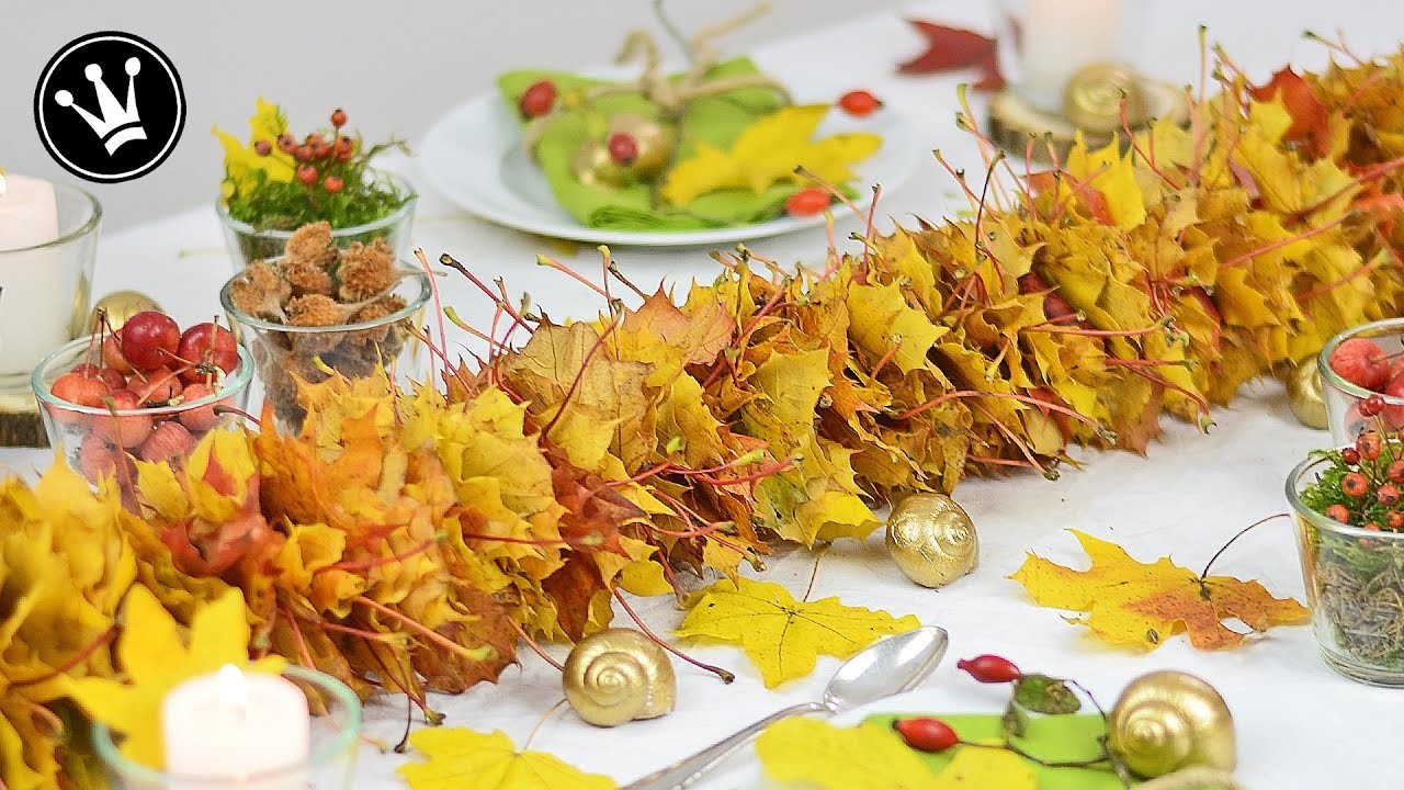 Diy Herbstdeko I Girlande Aus Herbstlaub Selber Machen I Basteln