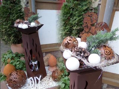 DIY by kekaplauderei: Advents + Weihnachts DEKO ;Schale + Säule SELBST GESTALTEN