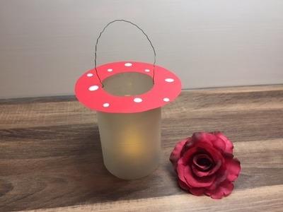 DIY Laterne.Kerzenglas basteln, schnelle und einfache Bastelidee, für und mit Kindern