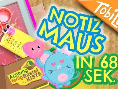 Notiz Maus basteln | Maus DIY | Tiere basteln | Kinderkanal | Kindervideos | Kinder DIY - AFB 14