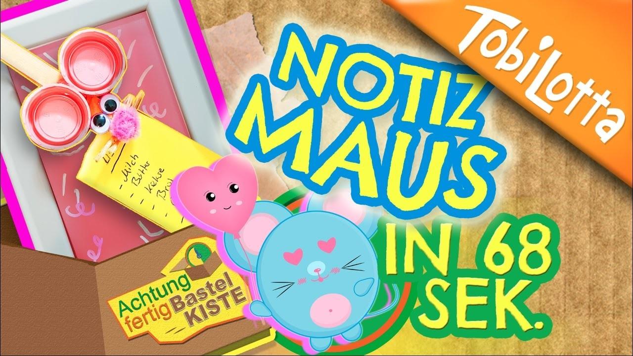 Notiz Maus basteln   Maus DIY   Tiere basteln   Kinderkanal   Kindervideos   Kinder DIY - AFB 14
